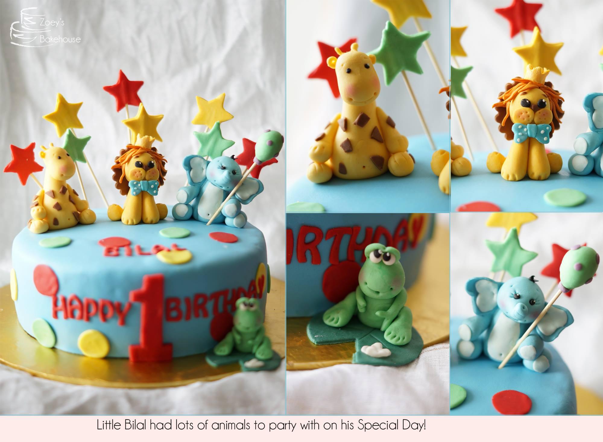 Zoeys Bakehouse Animal Theme Birthday Cakes