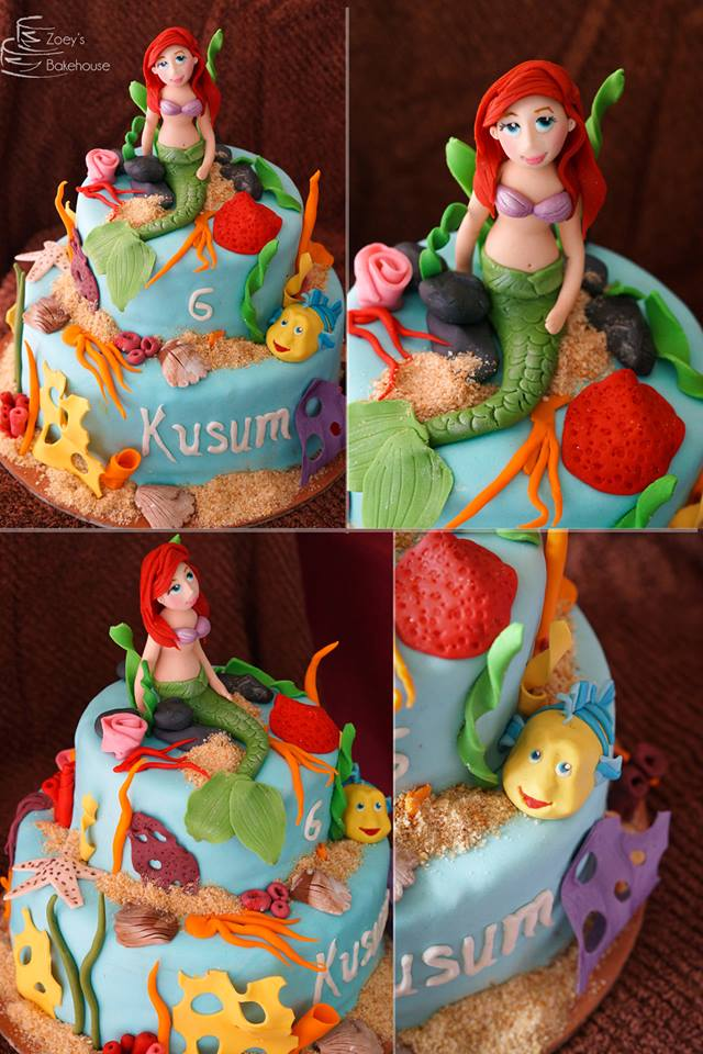ariel mermaid princess cake hyderabad
