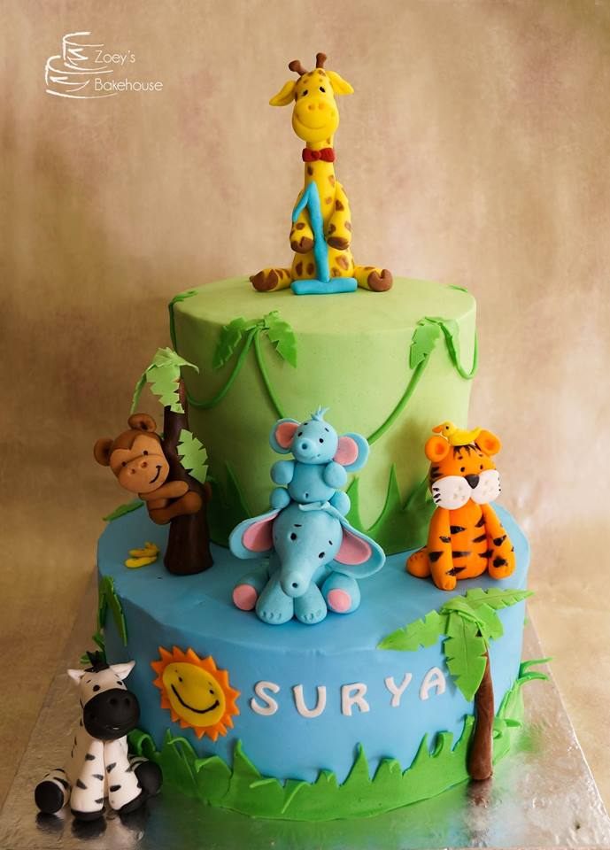 Groovy Zoeys Bakehouse Animal Theme Birthday Cakes Birthday Cards Printable Trancafe Filternl
