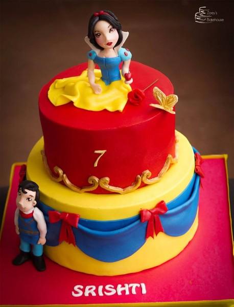 snow white cake india, snow white cake hyderabad, princess cake hyderabad