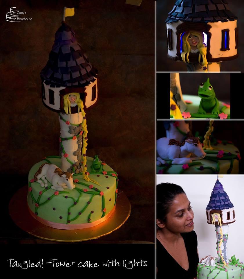 Rapunzel Tangled cake Hyderabad , princess cake