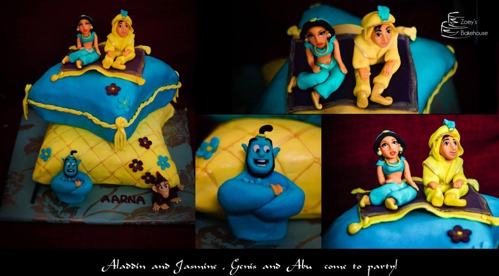 princess cake hyderabad , aladdin jasmine cake , first birthday cake hyderabad